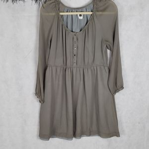 J.crew 100% silk gray dress size 12
